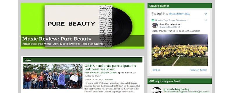 SNO Sites | The Granite Bay Gazette – Granite Bay High